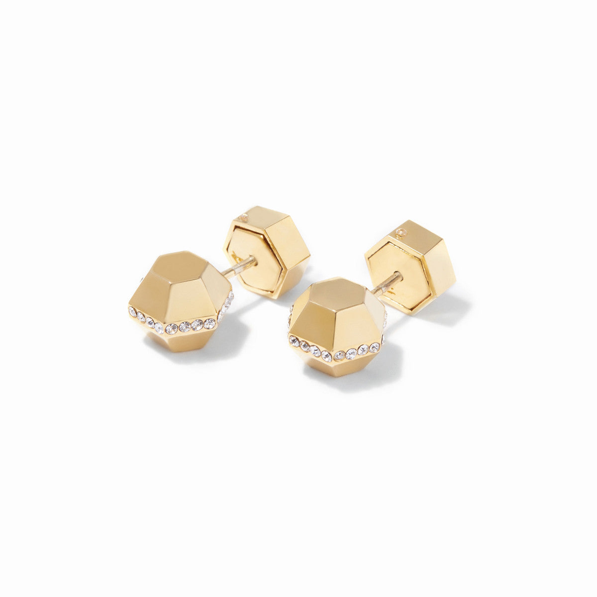Sixtine Small Hexagon Studs - Gold