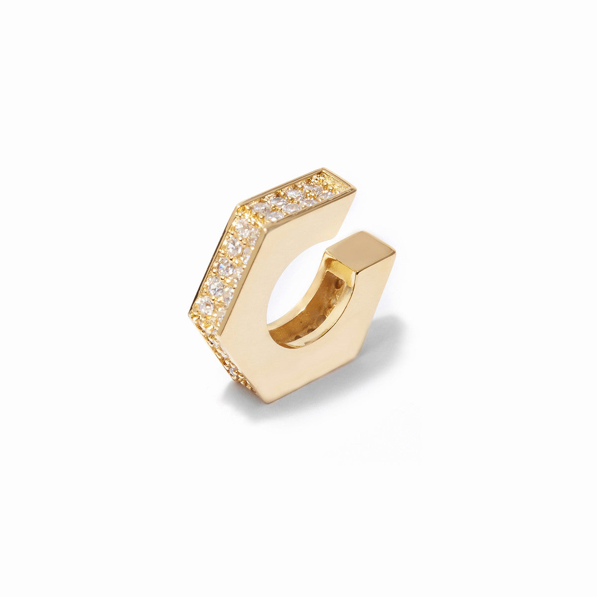 Aris Pave Ear Cuffs - Gold