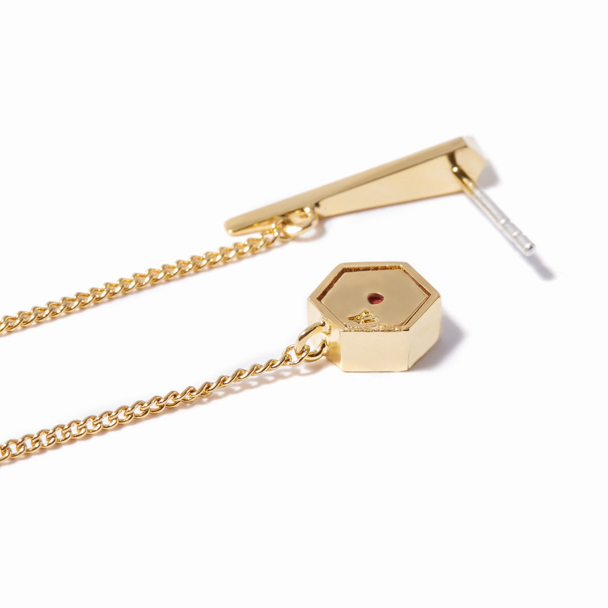 Vide Long Chain Earrings - Gold