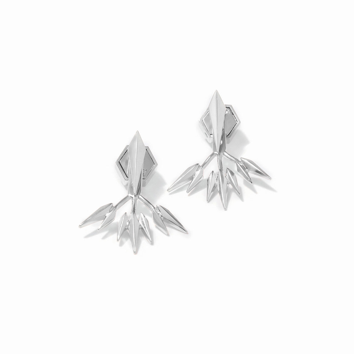 Vide Ear Jackets - Rhodium