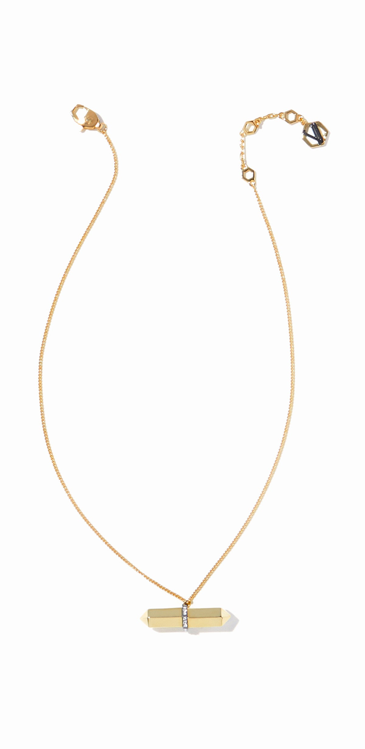 Colette Pendant - 2 Tone Gold and Hematite