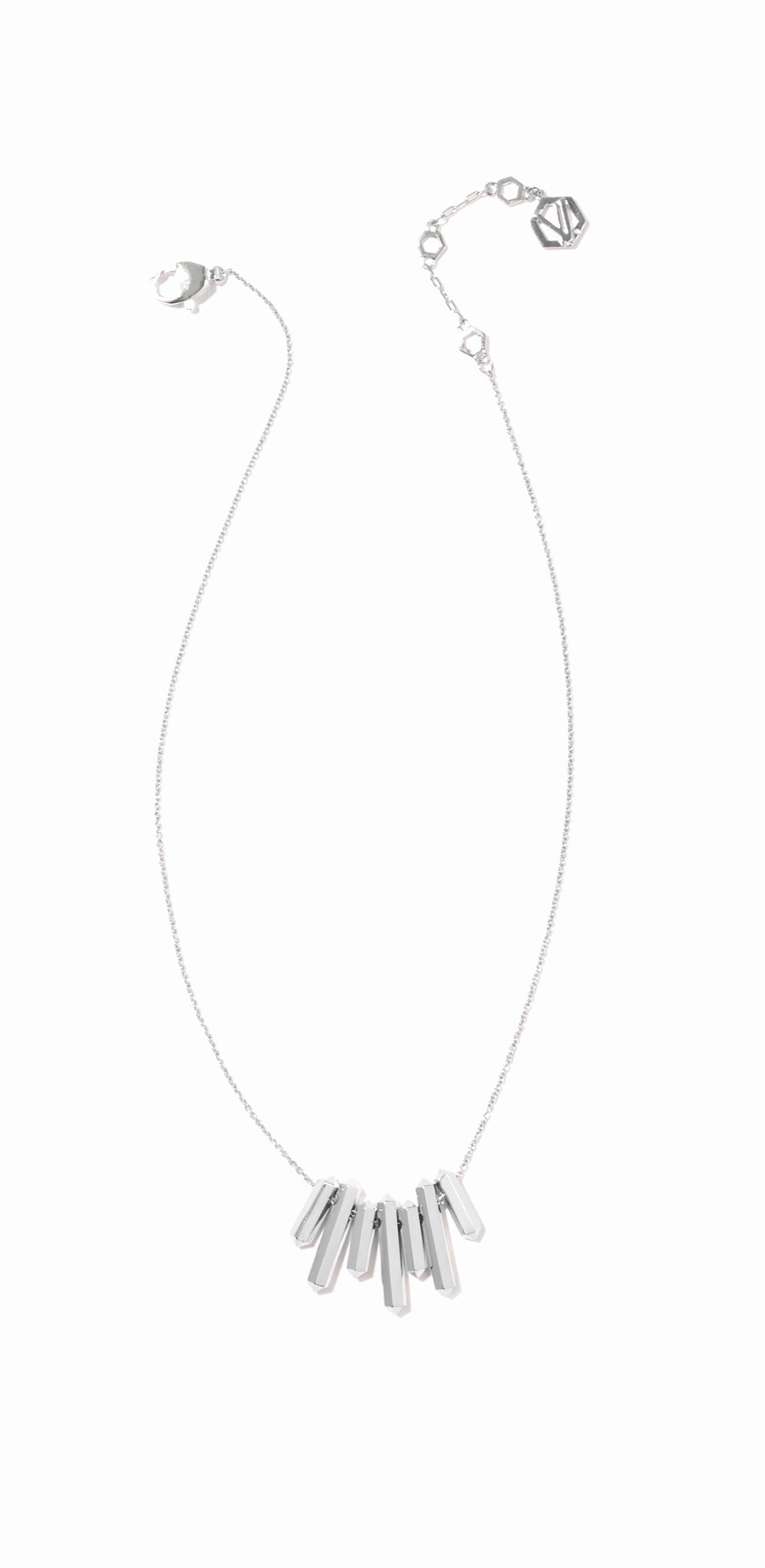 Aurum Small Bib Necklace - Rhodium