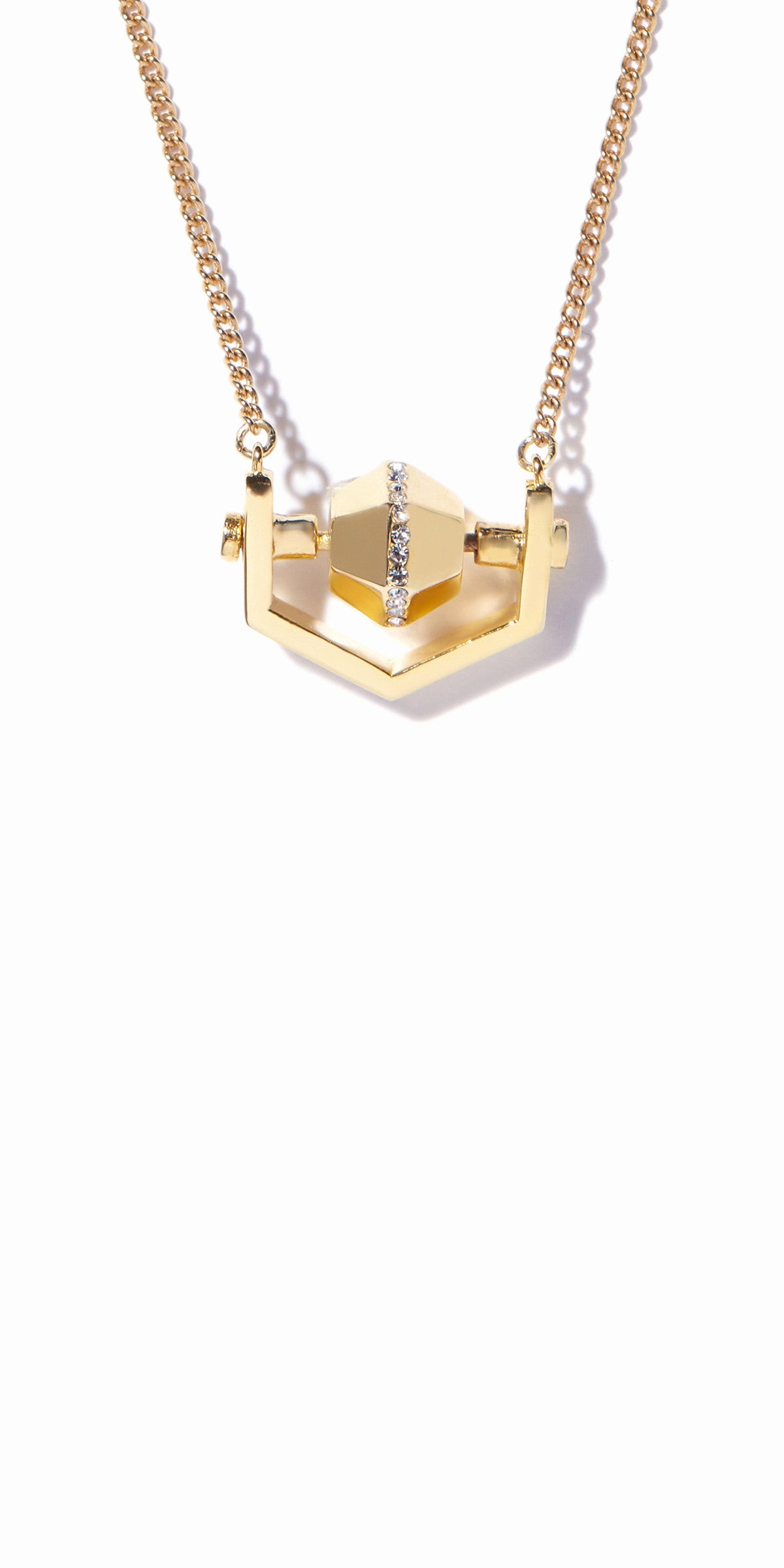 Sixtine Hexagon Pendant - Gold