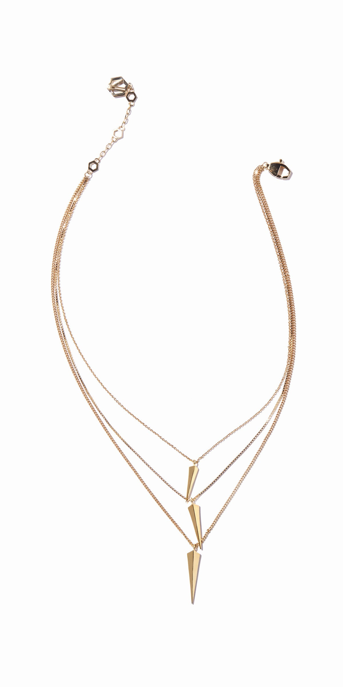 Vide Three-layered Necklace - Gold