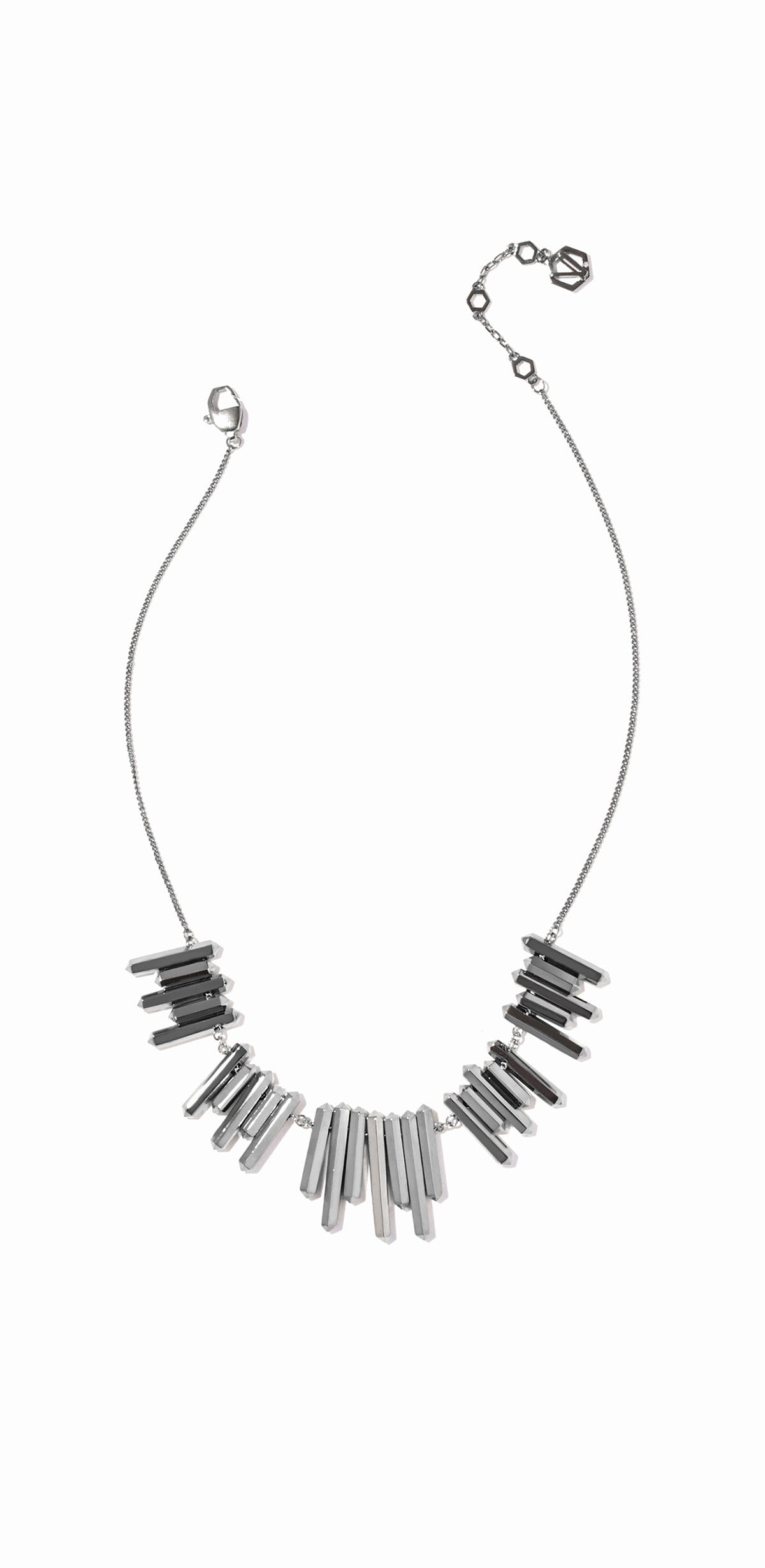 Aurum Bib Necklace - Hematite