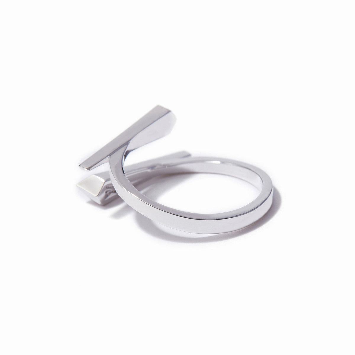 Vide Bypass Ring - Rhodium