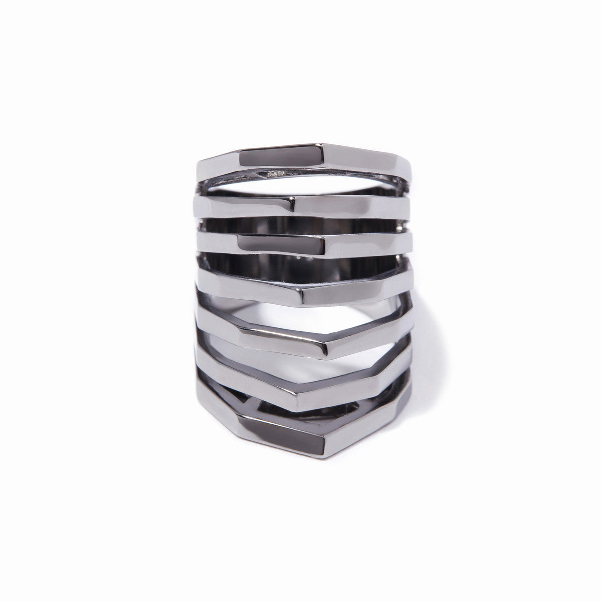 Aris Cut-out Ring - Hematite