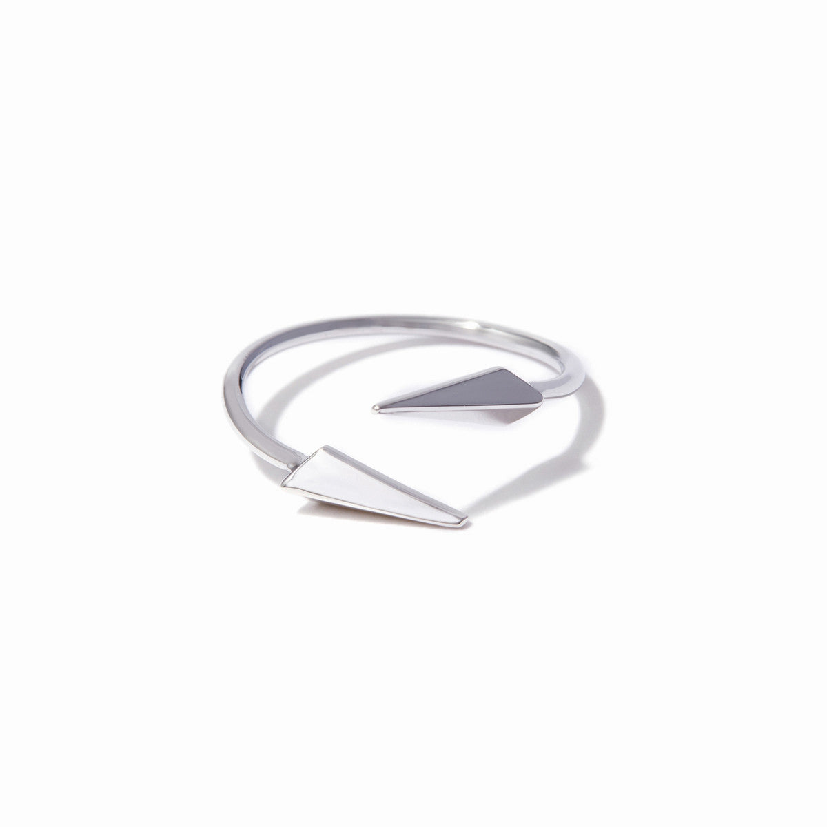 Vide Midi Ring - Rhodium