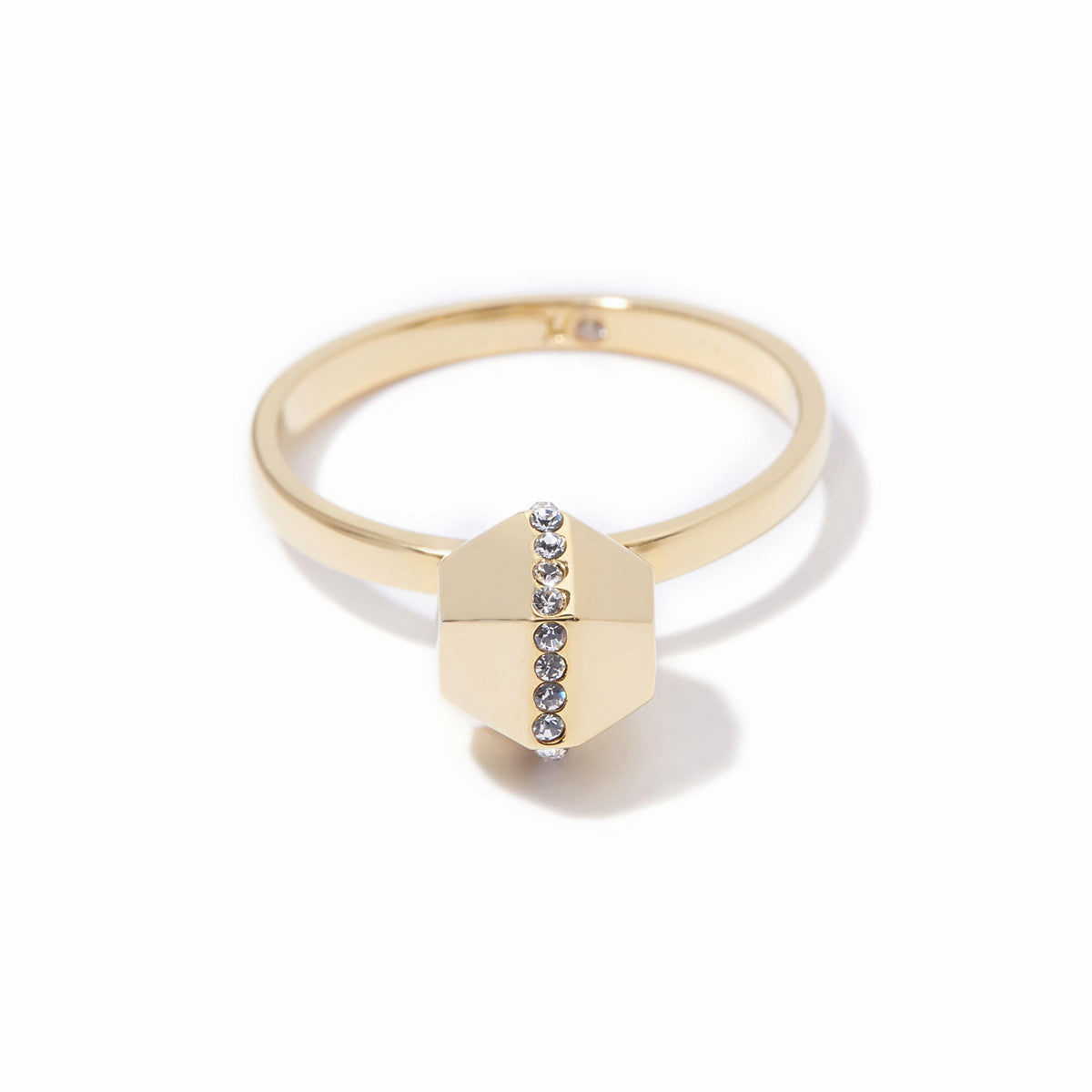 Sixtine Hexagon Ring - Gold