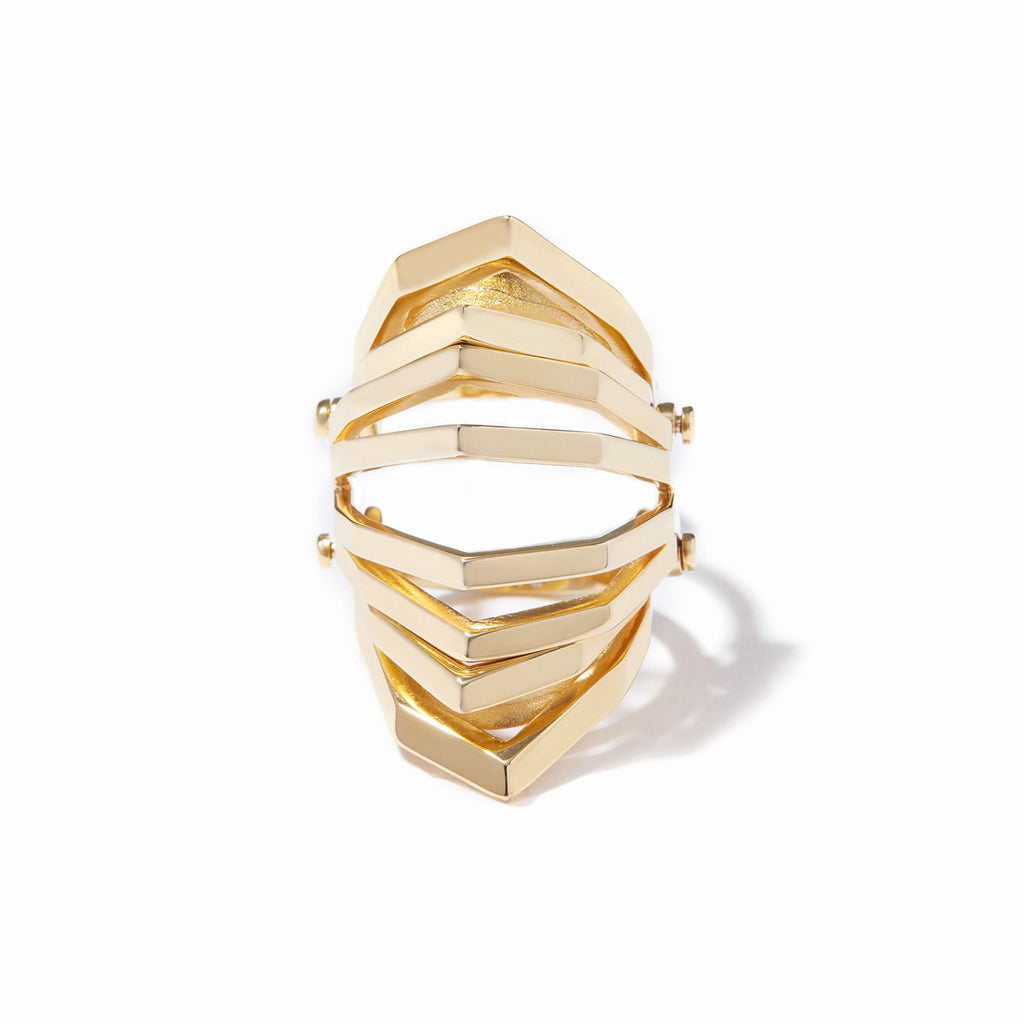 Aris Hinged Cut-out Ring - Gold