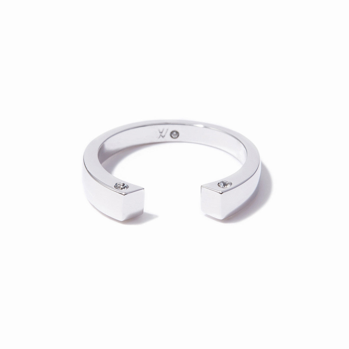 Cira Squared Ring - Rhodium