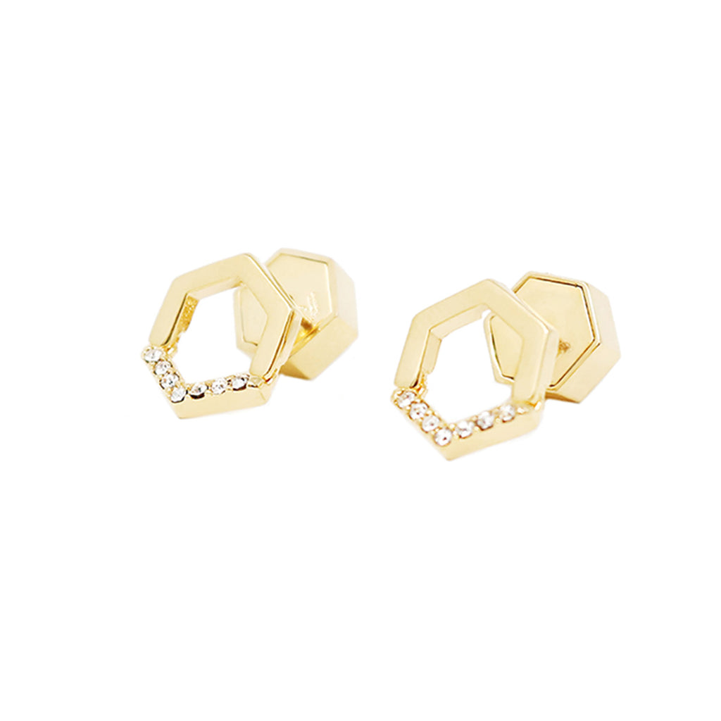Constellation Pave Small Studs - Gold