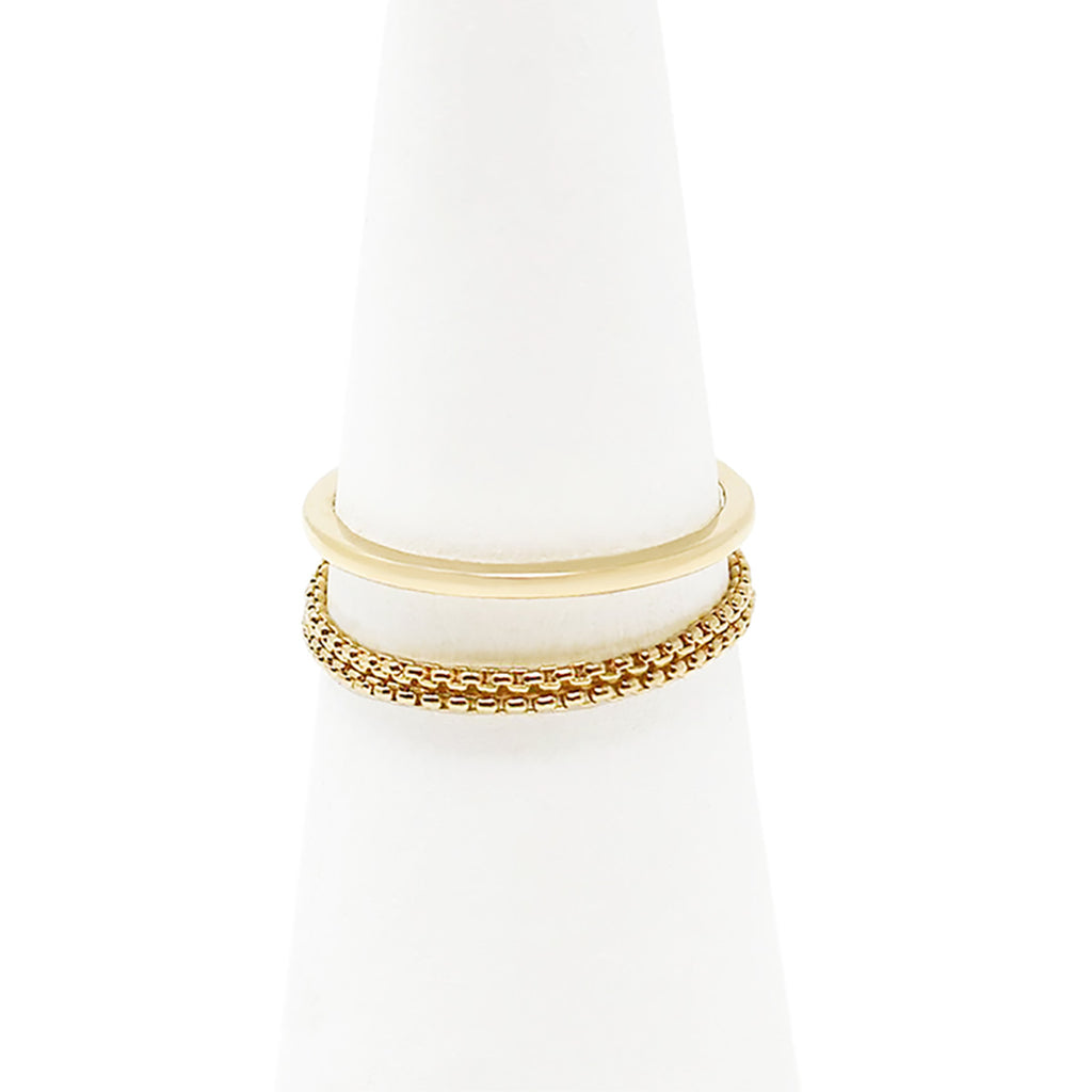Chain Reaction Delicate Ring - Gold