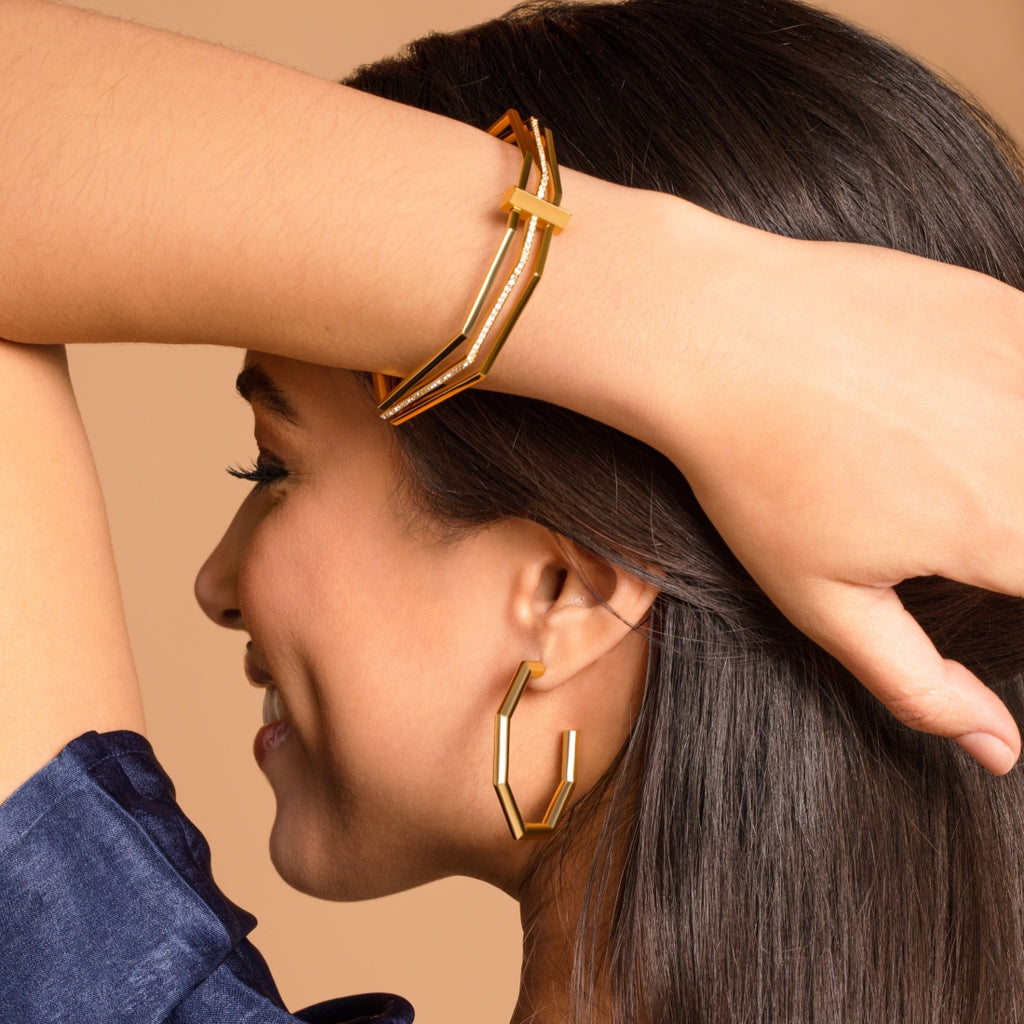Constellation Hoop Earrings - Gold