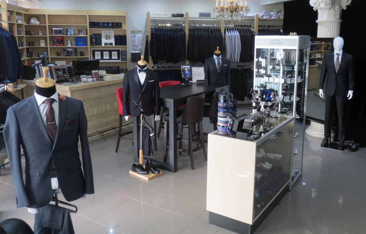private vaughan showroom, mens suits, mens tuxedo, custom fitting, made to measure suits, wedding packages, groom suits, groomsmen