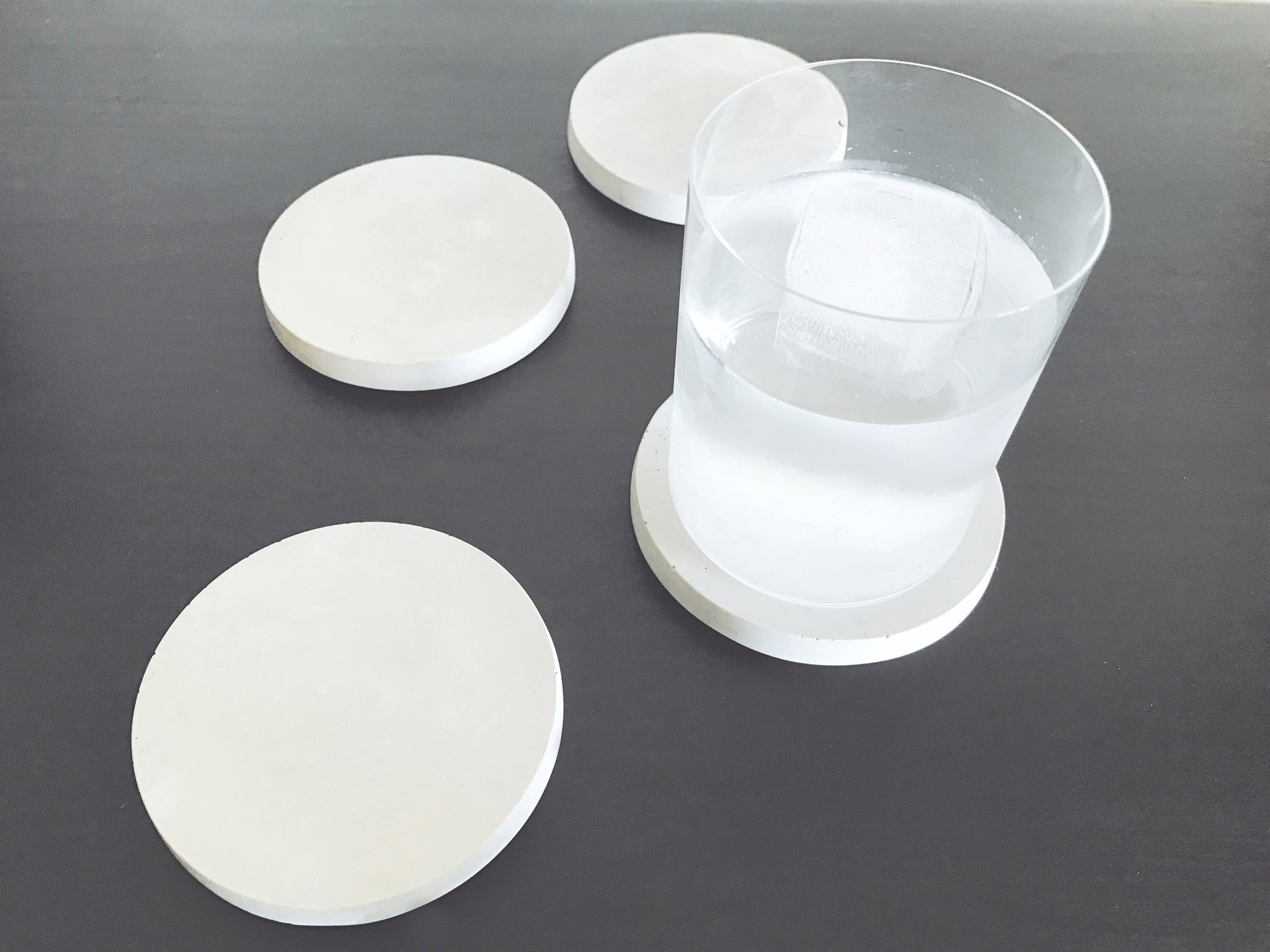 Minimal Concrete Coasters - a set of 2 or 4