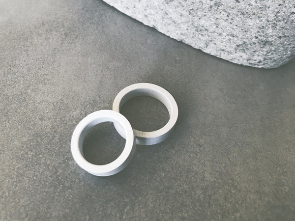 Minimal Concrete Ring | Wedding Band