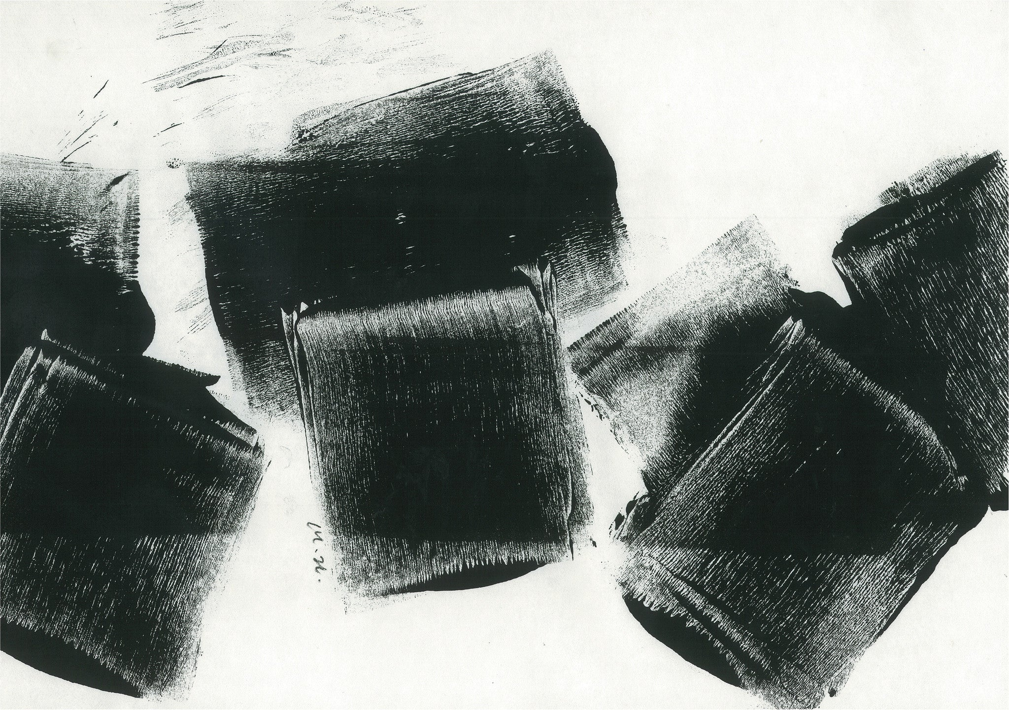 Monoprint | Blocks of Time