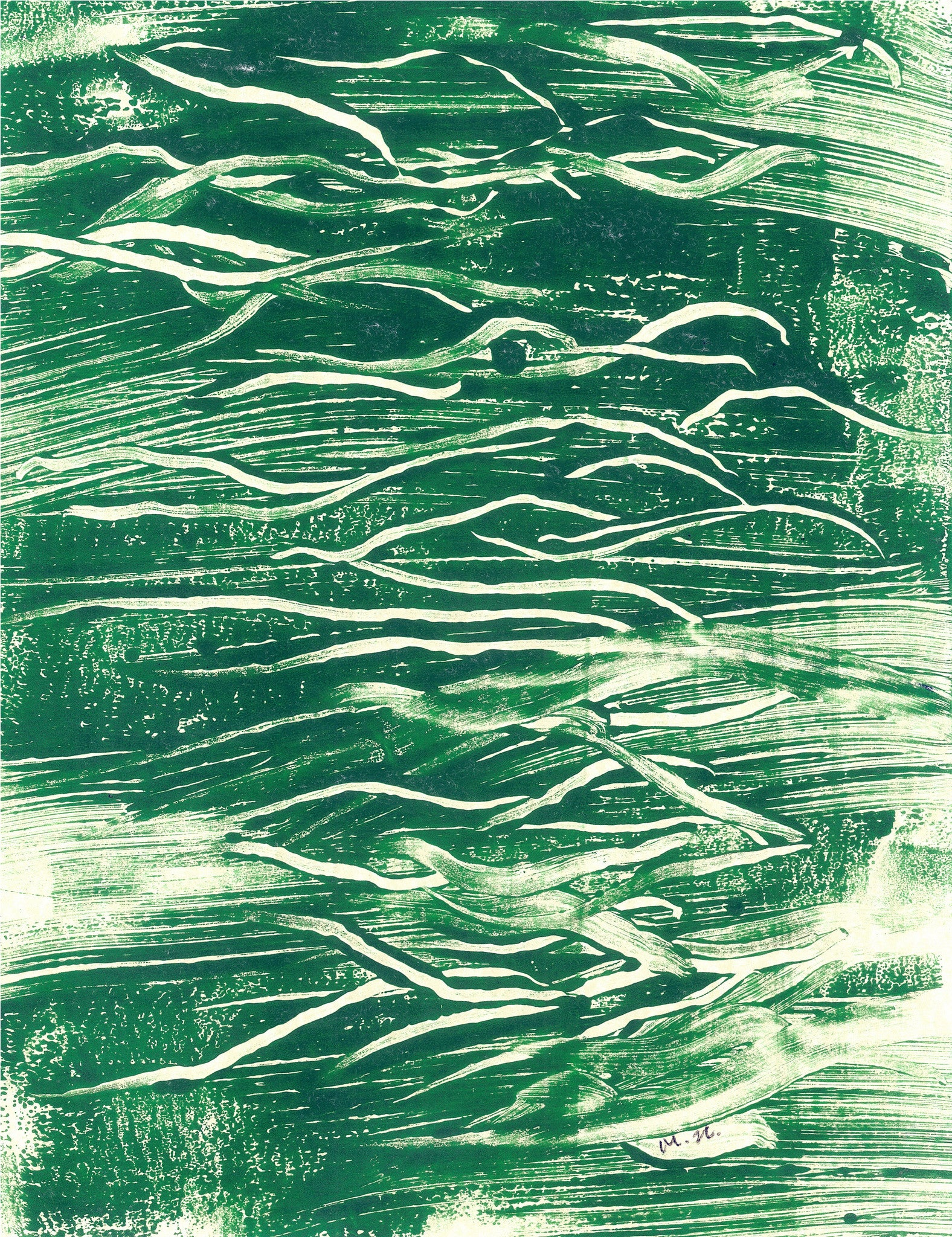Monoprint | Mountain Murmur