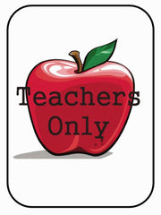 For TEACHERS Only