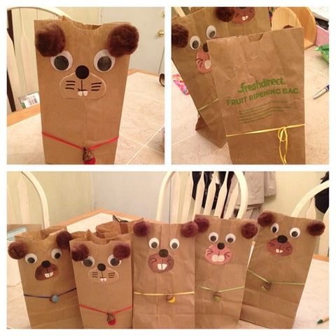 Paper Bag Animal Party Favors