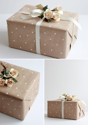 Paper Bag Dotted Gift Wrap