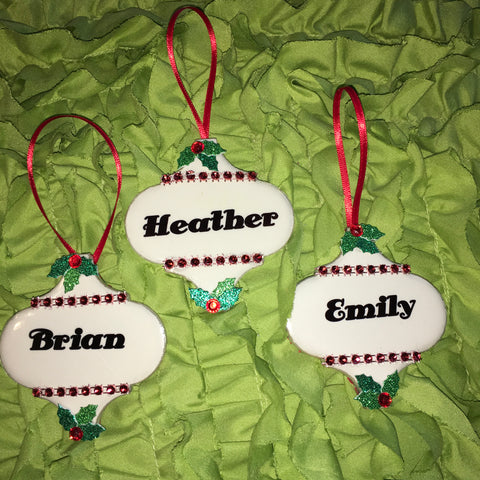 JAMsCraftCloset Holiday Traditions Christmas Ornaments Handmade Personalized Sublimation on Tile Wood Metal