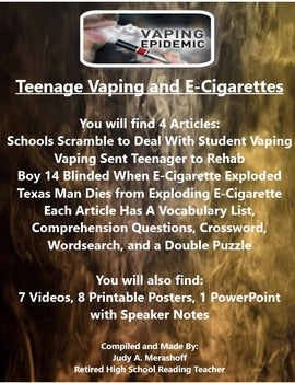 Teenage Vaping and E-Cigarettes Activities