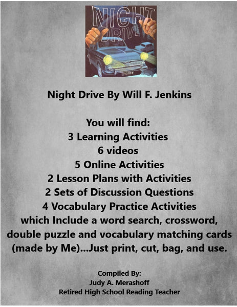 Night Drive by Will F. Jenkins Supplemental Activities - JAMsCraftCloset
