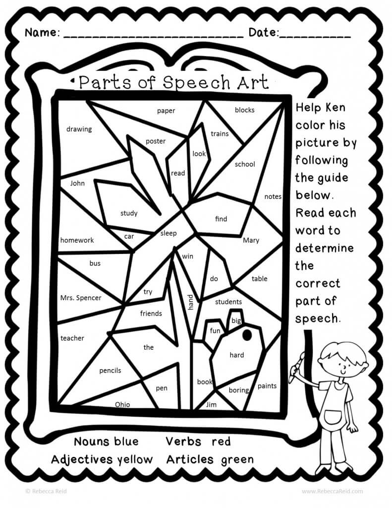 FREE Coloring Pages Reading and Language Arts Style 13