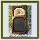 Chalkboard Vintage Slate Cross Stitched by ME Coffee Cups and Vine Basket Wall Art Home Decor - JAMsCraftCloset