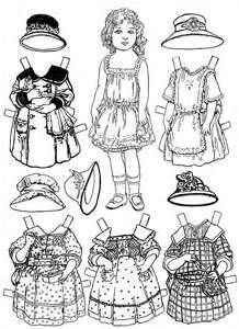 FREE Coloring Pages Paper Doll Patterns Style 7