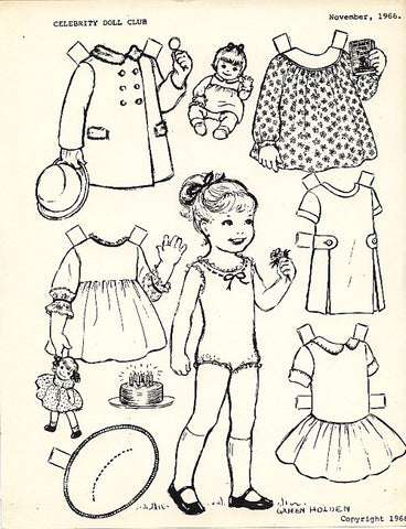 FREE Coloring Pages Paper Doll Patterns Style 16
