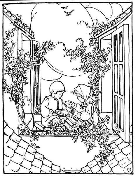 FREE Coloring Pages Vintage Pictures Style 16