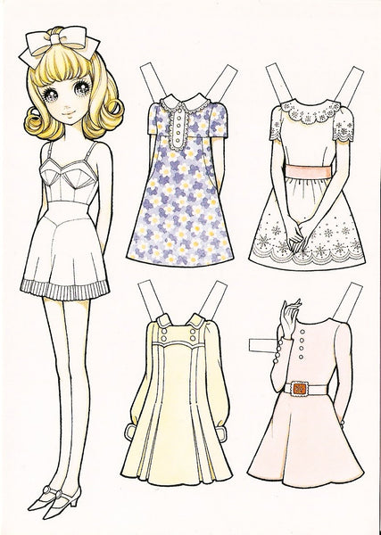 FREE Coloring Pages Paper Doll Patterns Style 17