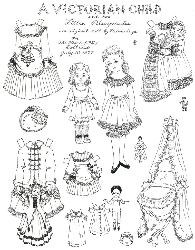 FREE Coloring Pages Paper Doll Patterns Style 18