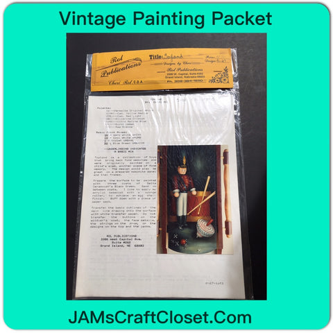 Vintage DIY Painting Packet #19 Toyland Solder Drum Jacks and Top JAMsCraftCloset