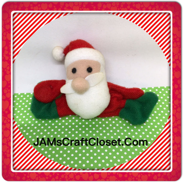 Santa Claus Made of Felt Magnet Vintage Christmas Holiday Decoration Kitchen Decor JAMsCraftCloset