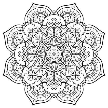 FREE Coloring Pages Celestial Mandala Style