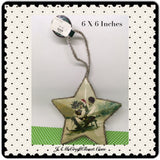 Star Ornament Kids On Sled Christmas Tree Holiday Decor Tree Decor