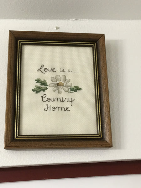 Picture Vintage Picture Love is a Country Home Kitchen Home Country Kitchen Primitive