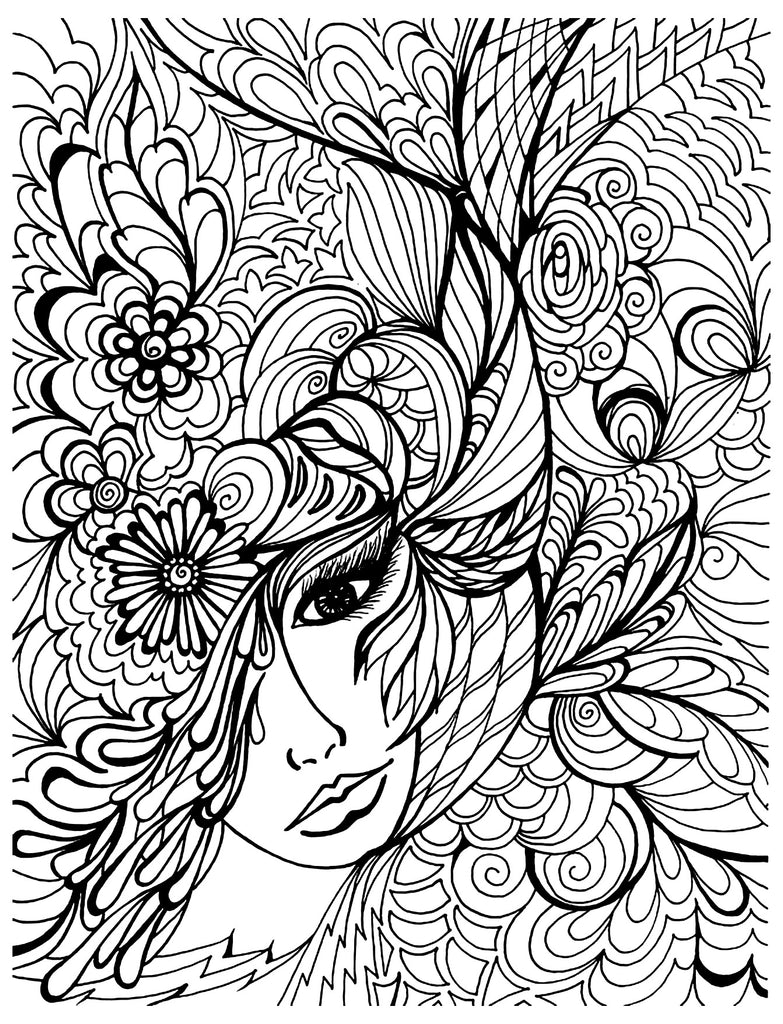 FREE Coloring Pages Vintage Pictures Style 4