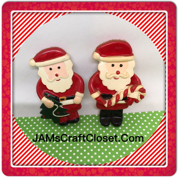 Santa Claus Dough Magnets Vintage Christmas Holiday Decoration Kitchen Decor SET OF 2 JAMsCraftCloset