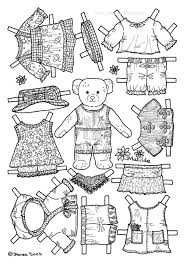 FREE Coloring Pages Paper Doll Patterns Style 24