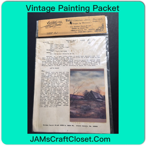 Vintage DIY Painting Packet #26 Madison Barn JAMsCraftCloset