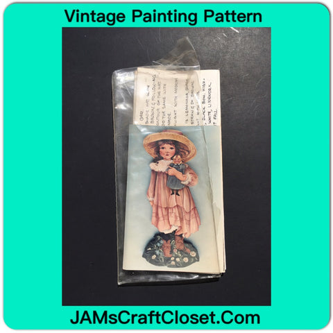 Vintage DIY Painting Packet #29 Amy With Doll JAMsCraftCloset