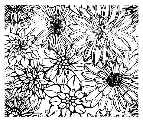 FREE Coloring Pages Flowers Style 4