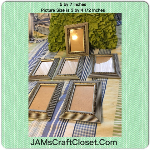 Picture Frames #2 Vintage Silver and Black 5 x 7 Inches