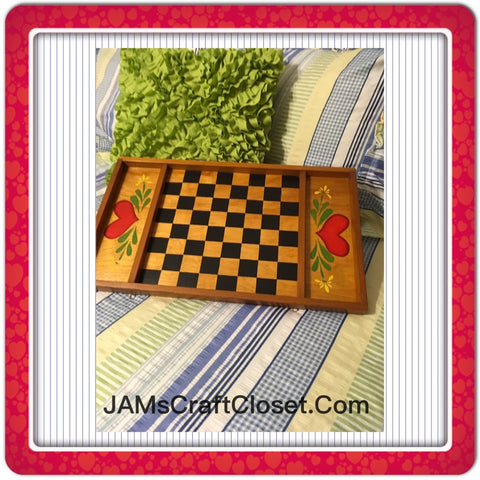 Checkerboard Vintage Handmade Hand Painted by ME Wall Art Wall Hanging Home Country Decor - JAMsCraftCloset