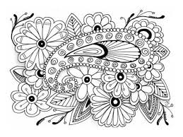 FREE Coloring Pages Flowers Style 1